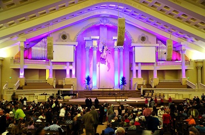 NORTH LITTLE ROCK AR u2014 The First Pentecostal Churchu0027s assistant pastor Nathan Holmes hired LD Gary Howard of SFH Productions for a LED lighting system that ... & Enligthen Stage Lighting Controller